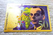 "★★ BILLET POLYMER  "" OR "" AVEC COULEURS DU 50 FRANCS SAINT EXUPERY ★★ REF3"