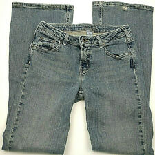 SILVER JEANS Womens JULIA Fitted Flare Leg Mid Rise Sz 27/31 Faded Light Wash