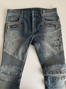 Balmain Biker Jeans Slim Fit for Men Size 32