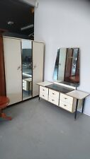 Retro bedroom suite 1960s dresser wardrobe vintage groovy