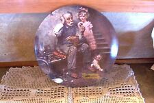 Norman Rockwell The Cobbler LE Plate Rockwell Heritage Collection Second 1978