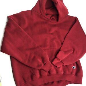 Vintage Russell Athletic Hoodie Sweatshirt Distressed Blank 90s Men's Sz XL