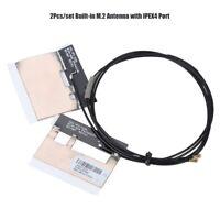 2Pcs NGFF IPEX 4 MHF4 M.2 Internal Antenna Wifi Lan Card for MU736 Intel7265 GO