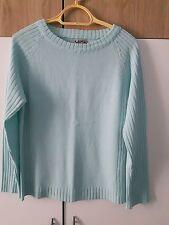 pull bleu lagon turquoise clair manches longues  T 5 40 42 44 porté loose ou pas