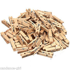 Lots 50 Pcs Wood Clothespins Wooden Laundry Clothes Pins Large Spring Size 35MM