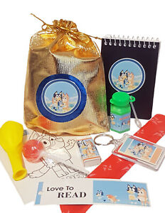 Bluey loot/party bag with 9 items inside, great value