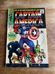 Captain America #100, April, 1968, Stan Lee and Jack Kirby, Silver Age Marvel c