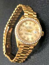 Rolex Ladies President 18K Gold Champagne Diamond Dial & Bezel 69178 Quickset