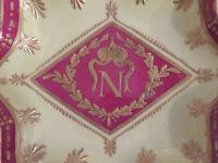 Seltene Sternförmige Schale mit den Insignien von Napoleon Bonaparte um 1850