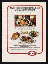 3w1224/ Alte Reklame - von 1974 - Geschirr MARKE TISCHFEIN