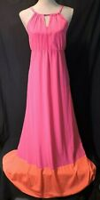 NWOT Old Navy MAXI sun dress LARGE Pink Orange so SOFT light weight NEW Pretty