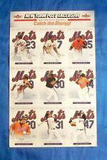 2003 Fleer New York Post Exclusive Mets Starting Lineup Uncut Sheet