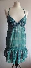 L080/07 BSK por Bershka para mujeres Verde Correa Cami Vestido Túnica, M Reino Unido 10, 170 88 A