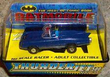 Batmobile Johnny Lightning ThunderJet Tuff Ones Slot Car Aurora auto world BLUE
