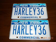 VANITY HARLEY 36 Pair of Motorcycle NY Skyline License Plates  ONE OF A KIND