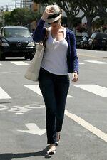"£161 PAIGE Monica Jeans skinny leg baby flare W27"" --MINT-- Designer Celebrities"