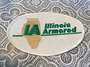 """Illinois Armored Embroidered Patch Security  4 1/2 """" Oval Movie Prop #63"""