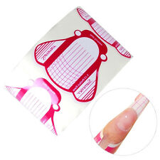 Girl Nail Art Tips Extension Forms Guide French DIY Tool Acrylic UV Gel 100PCS