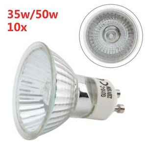 10 x 35w or 50w GU10 Long Life Halogen Reflector Lamp Dimmable Spot Light Bulb