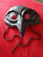 Raben- Schnabel Maske Echt Leder