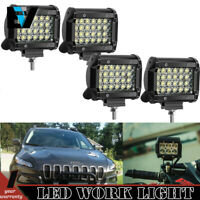 4X 4inch 18W LED Cube Pods Lights Quad Row Fog Driving Off road Truck GMC