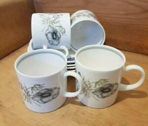 Wedgewood Susie Cooper Glen Mist 4 X Coffee Cups And Saucers C1035