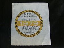 BOLLO ACI TASSA CIRCOLAZIONE MOTO VESPA SCOOTER EPOCA 1979