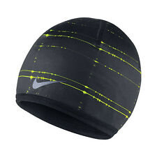 NEW Nike Run Cold Weather Reversible Beanie Black 632248-010 Adult Unisex Cap