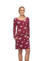 Ragwear Kleid Talona geblümt rot XS S M L oder XL