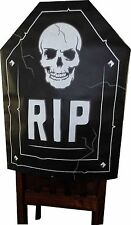 """Happy Halloween(1) RIP Tombstone & Skull Chair Cover. Size 19 X 26""""."""