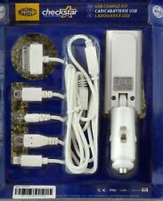 USB universal Auto Lade Set Ladegerät WEIß 2,1A + Ladekabel