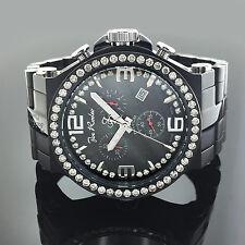 Joe Rodeo Phantom 3.25 ct Diamond Bezel Mens Black Watch JPTM45 47mm