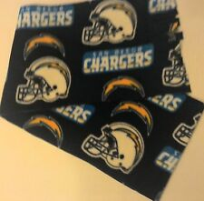 "NFL SAN DIEGO CHARGERS FLEECE SCARF-HANDMADE - 8"" WIDE x 60"" LONG"