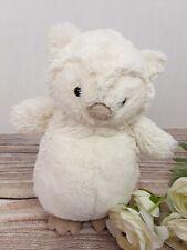 "Jellycat 9"" Medium Cream White Bashful Owl Soft Plush Lovey Stuffed Animal"