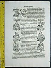 1493 Schedel,1st Latin Edition,Portraits and biography of emperors&learned mwn