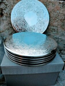Rare Large Vintage Barker Ellis Silver Plate Table Mats