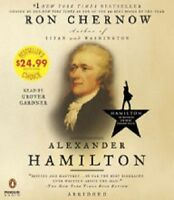 ALEXANDER HAMILTON Ron Chernow AUDIOBOOK CDs Audio book NEW biography abridged