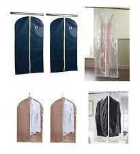 CLEAR GARMENT COVER SET OF 2 DRESS SUIT CLOTHES COAT PROTECTOR TRAVEL ZIP BAG