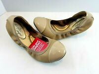 Dexflex Comfort Women's Claire Nude Scrunch Ballet Flat Shoes Medium or Wide