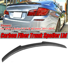 For 11-17 BMW F10 F18 528i 535i 550i M5 REAL Carbon Fiber Trunk Spoiler M4 Style