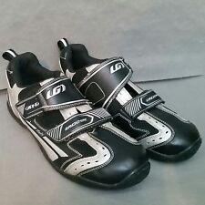 Ergo Grip LG Louis Garneau Bike Shoes Shimano Clip Size 43 Mens US 9.5 Black EUC