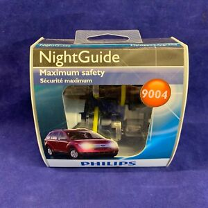 Set of 2: Philips 9004 Night Guide Headlight Halogen Bulbs 9004NGS2 4000K