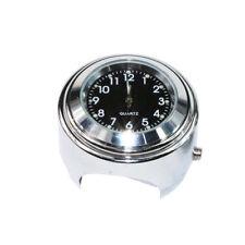 Handlebar Mount Chrome Clock For Honda Shadow VT 600 750 1100 VTX 1300 1800