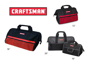 """Craftsman Tool Bag / Storage Wide Mouth 13"""",  16"""",  18"""" , 20"""" inch choose size"""