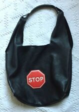 "COCCINELLE BAG 'RAQUEL""BLACK SUEDE-LEATHER HOBO-ANYA HINDMARCH STIKER STOP"