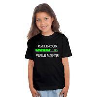 T-shirt ENFANT REVEIL EN COURS VEUILLEZ PATIENTER