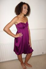 Coast size 12 knee length dress in purple - strapless