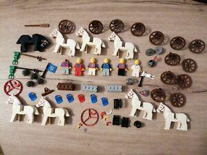 LEGO LEGOLAND 6080   LE CHATEAU FORT chevalier armes cheval soldat