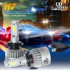 Pair H7 LED Headlight Bulb Kit fit Kawasaki ZX10R 650R 636 ZX6R 250R 300 Ninja
