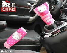 2 Pcs/set Handbrake Gears Covers Hello Kitty Styling Car Accessories Interior
